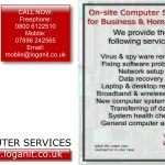 Computer support and problem solving in Coventry