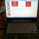 Laptop computer installation at Leamington Spa in Warwickshire